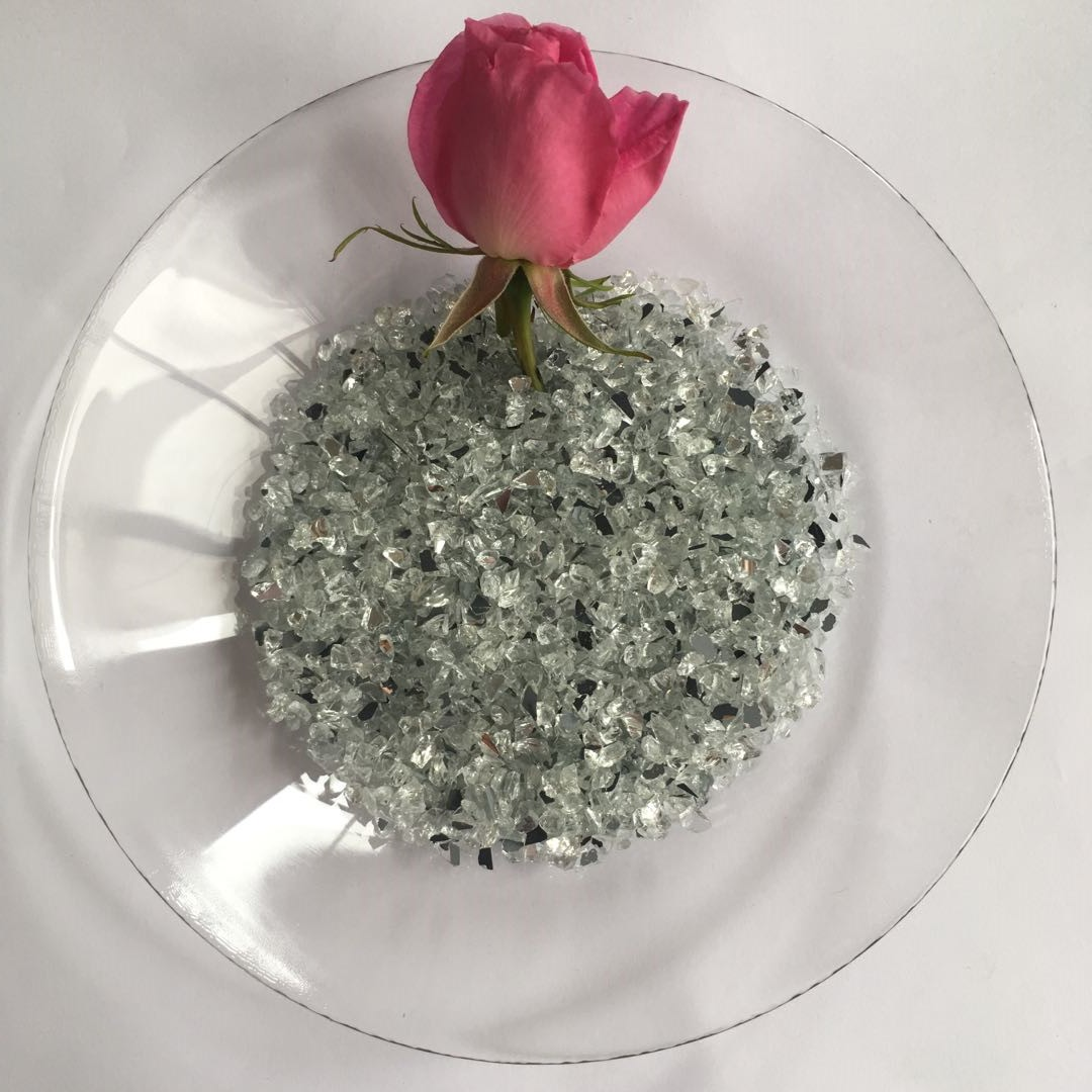 Spring Glass crushed mirror chips manufacturer for decoration-1