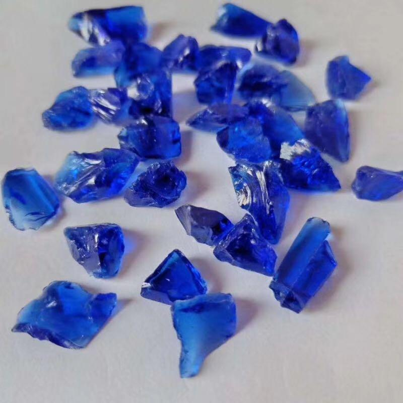 Cobalt Blue Glass Gravel for Landscaping