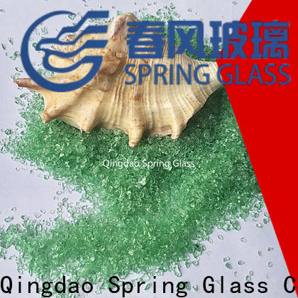 Spring Glass dark recycled crushed glass supplier for floor