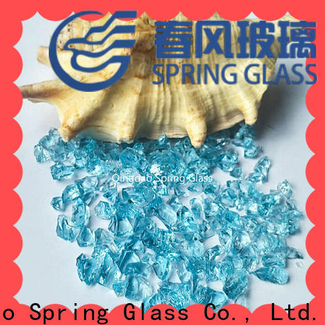 Spring Glass light crushed glass supplier for decoration