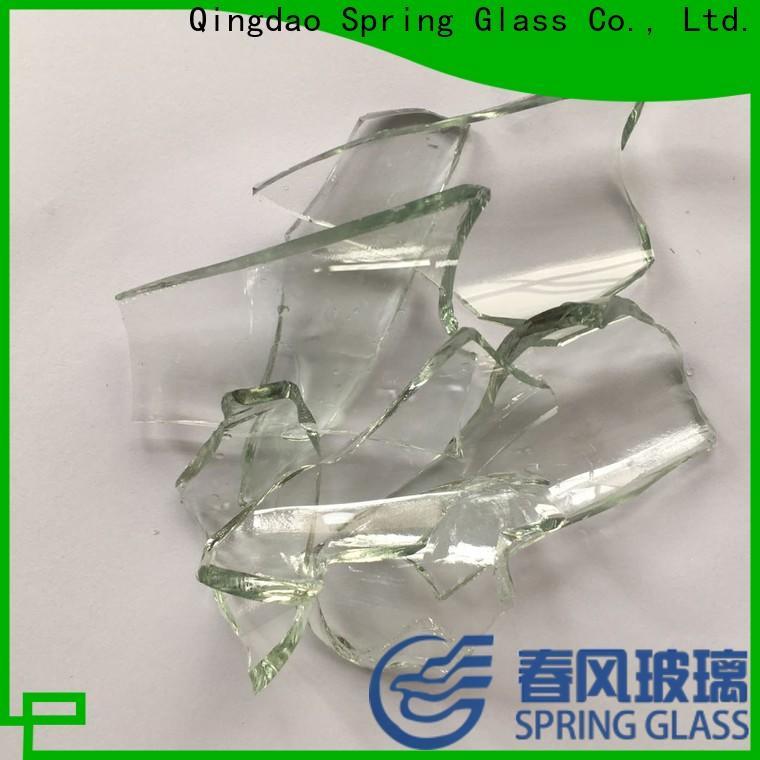 Spring Glass sheet glass cullet chips for fire bottle