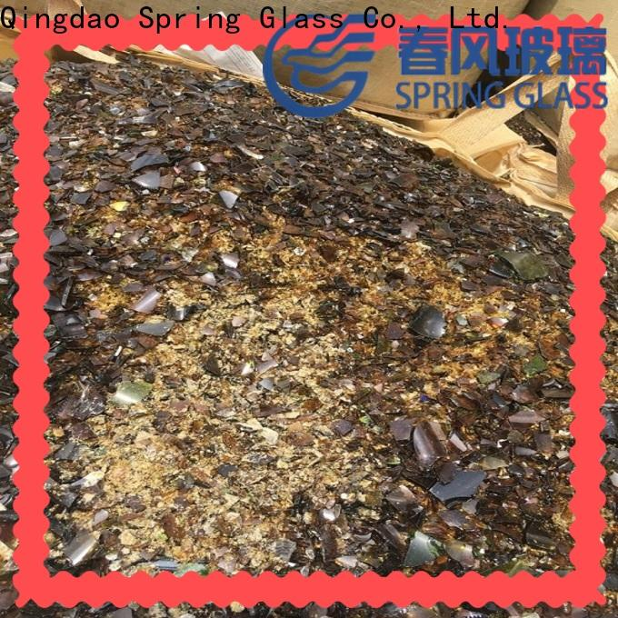Spring Glass best glass cullet supplier for fire bottle