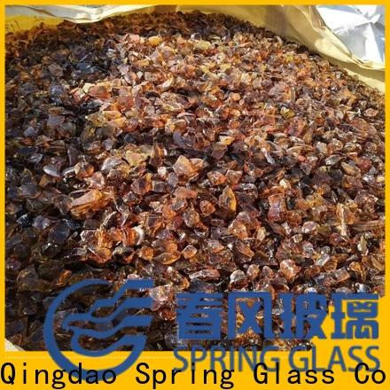 Spring Glass fire glass rocks factory for square
