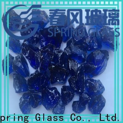 Spring Glass grey fire glass rocks factory for garden