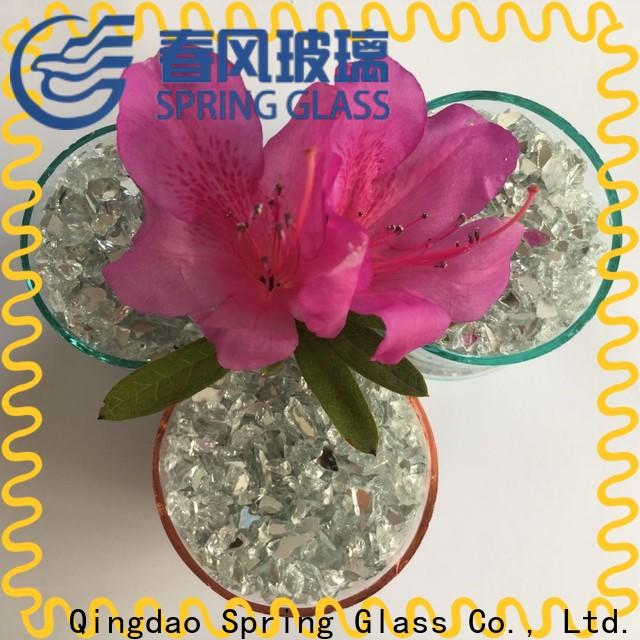 Spring Glass grey crushed mirror chips for busniess for sale