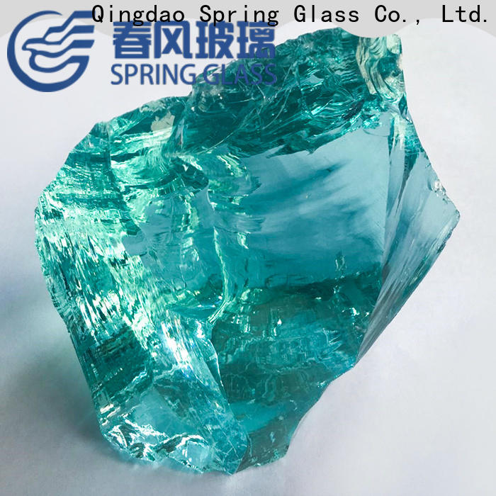 Spring Glass best fire glass rocks supplier for square
