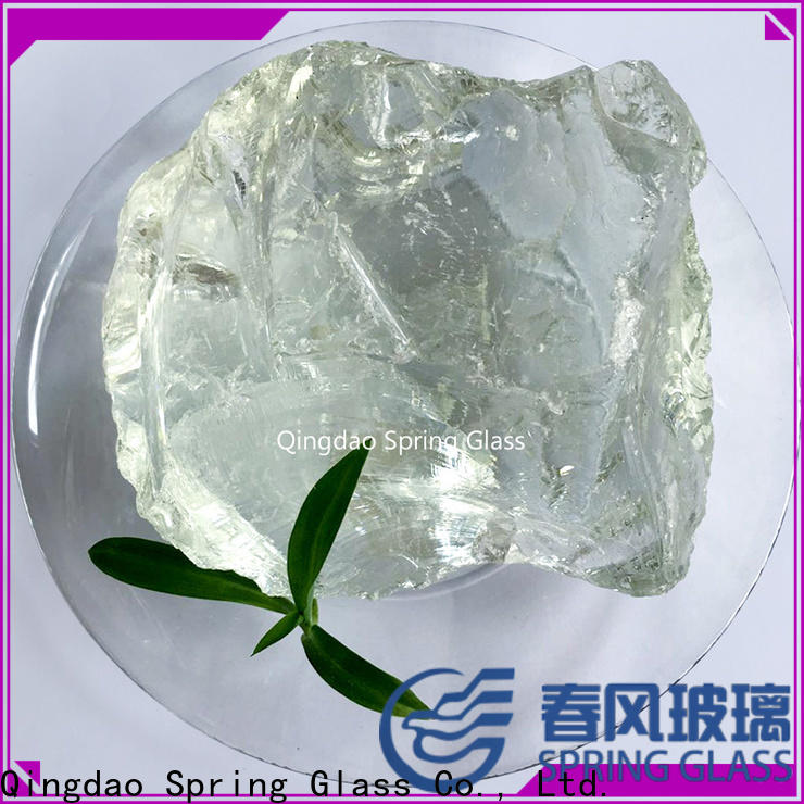 Spring Glass landscaping glass rocks company for square