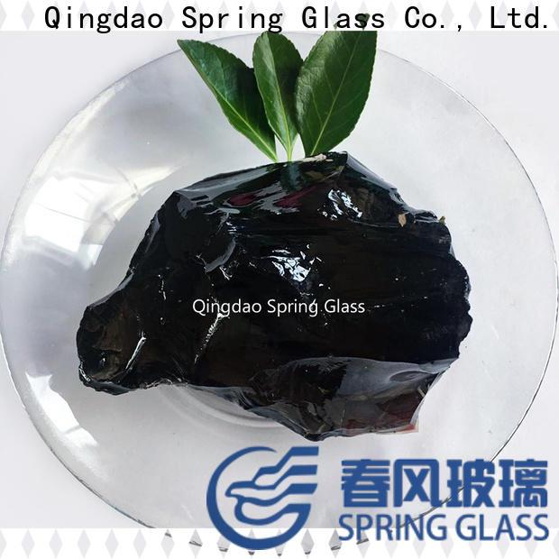 Spring Glass fire landscaping glass rocks supplier for garden