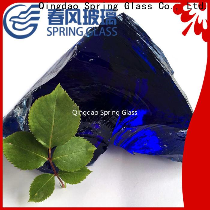 Spring Glass top landscaping glass rocks for busniess for garden