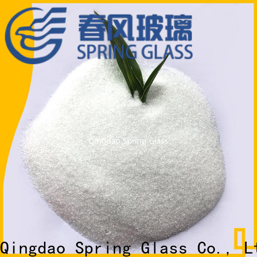 super white crushed glass powder factory for wall