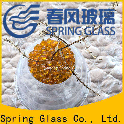Spring Glass high quality glass pebble supplier for square