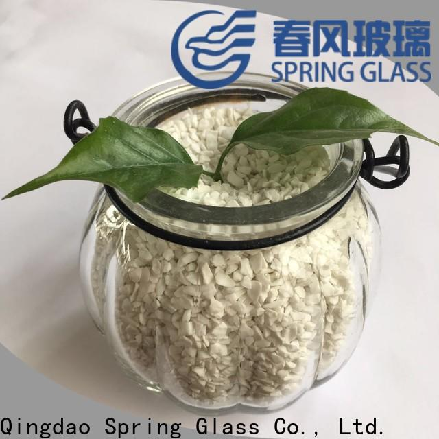 top decorative crushed glass factory for floor
