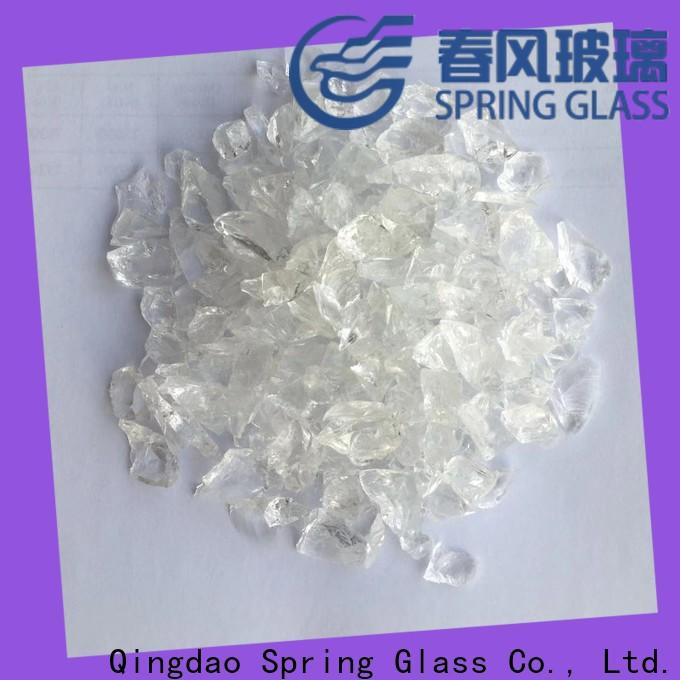 Spring Glass high quality decorative crushed glass for busniess for sale