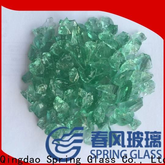 Spring Glass recycled crushed glass factory for decoration