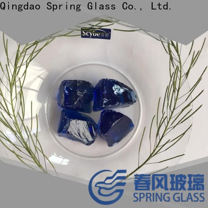 Spring Glass fire glass rocks company for home