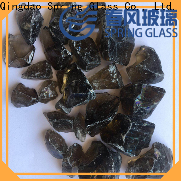 Spring Glass amber glass rocks for busniess for home