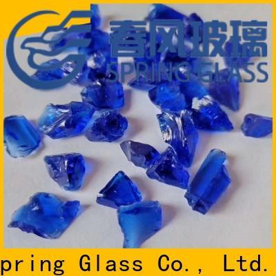 sky blue landscaping glass rocks manufacturer for home