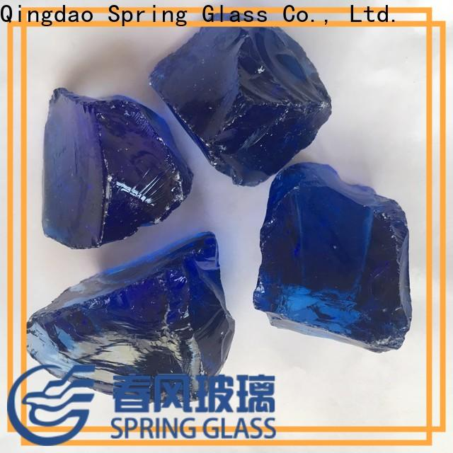 Spring Glass landscaping glass rocks manufacturer for square