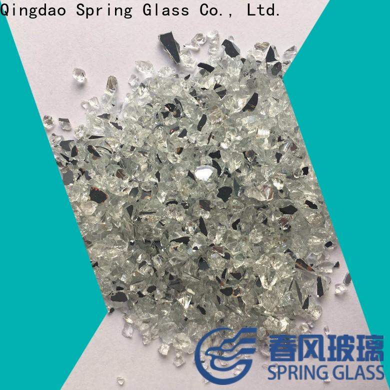 Spring Glass mirror chips supplier for sale
