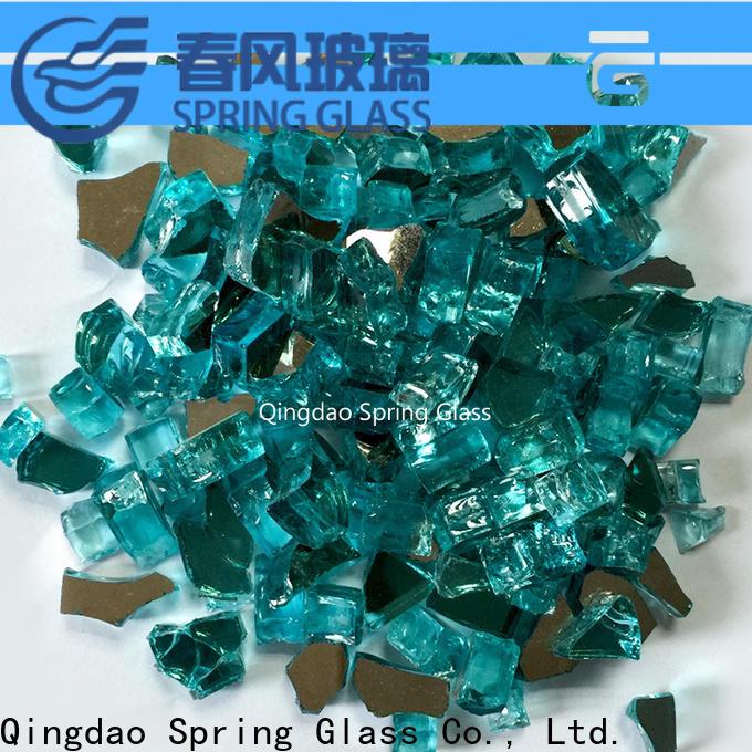 green fire glass rocks supplier for home