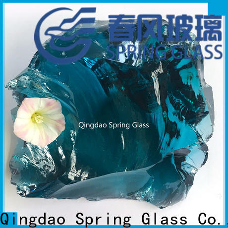 Spring Glass custom landscaping glass rocks factory for square