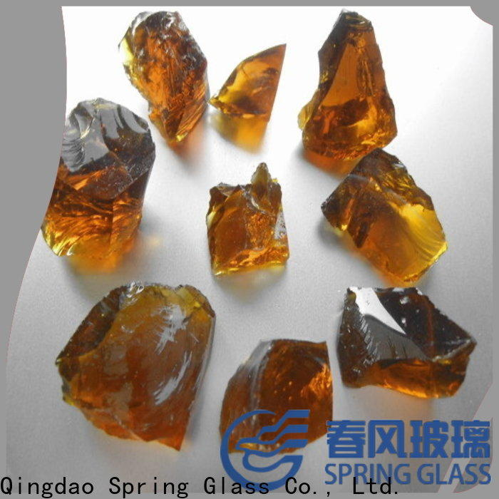 Spring Glass colorful landscaping glass rocks for busniess for home