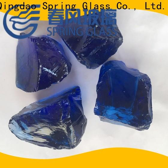 Spring Glass wholesale fire glass rocks factory for garden