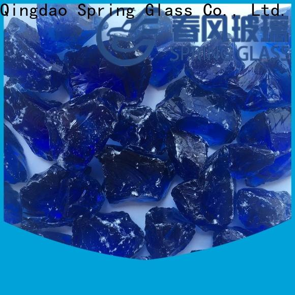 Spring Glass grey glass rocks manufacturer for decoration