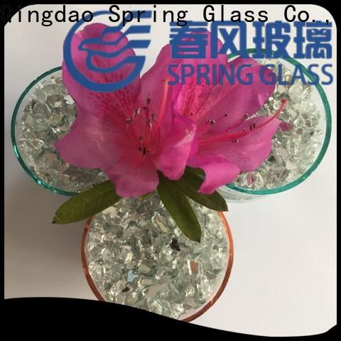 Spring Glass crushed mirror chips manufacturer for engineered stone