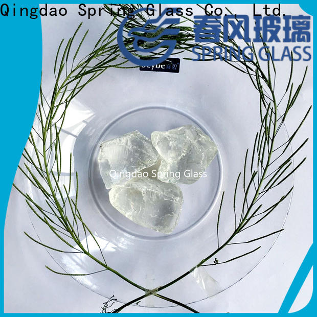 Spring Glass fire glass rocks manufacturer for garden