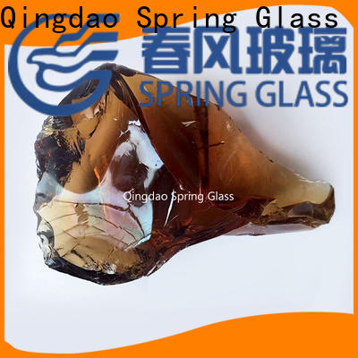 Spring Glass super white landscaping glass rocks manufacturer for square