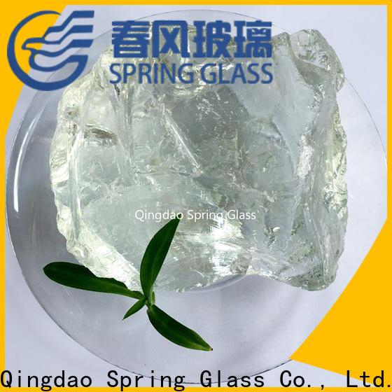 Spring Glass dark landscaping glass rocks supplier for square