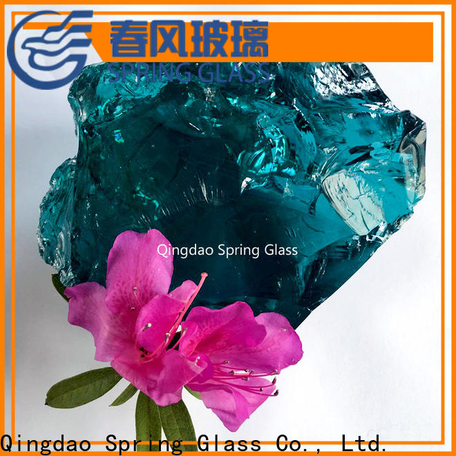 Spring Glass glass rocks supplier for home