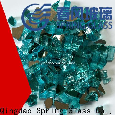 light landscaping glass rocks supplier for garden
