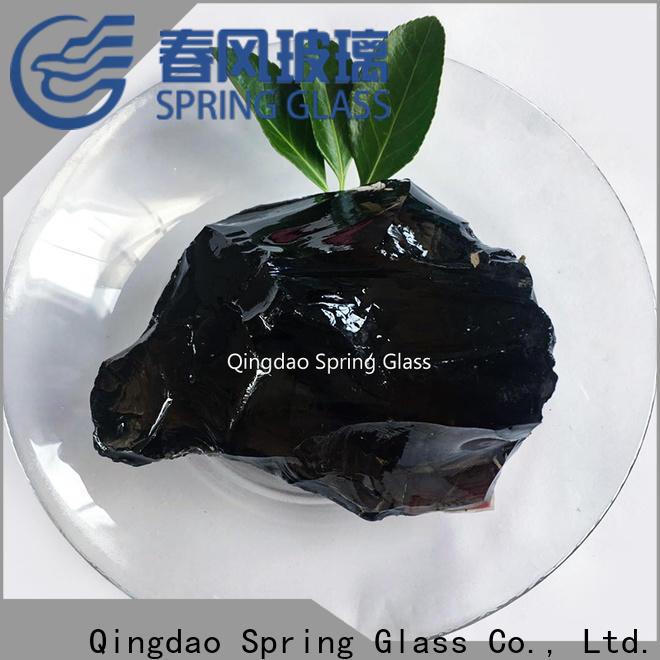 Spring Glass sky blue fire glass rocks supplier for square
