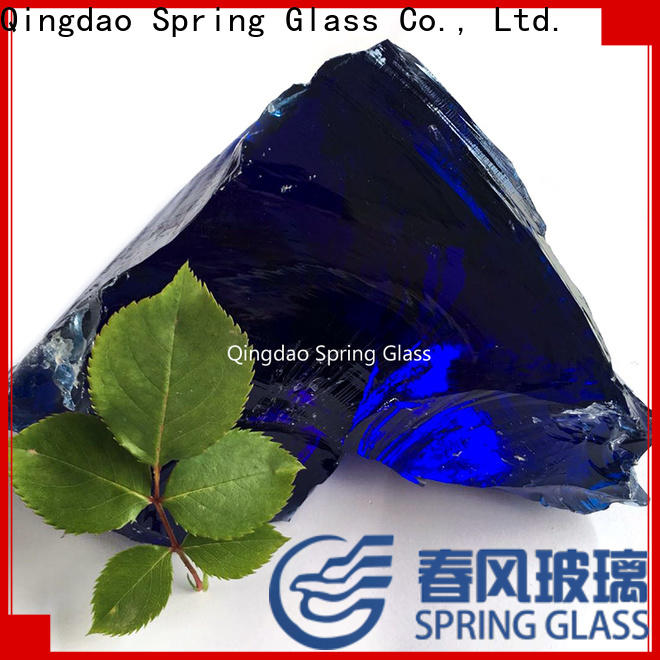 Spring Glass sky blue glass rocks supplier for decoration