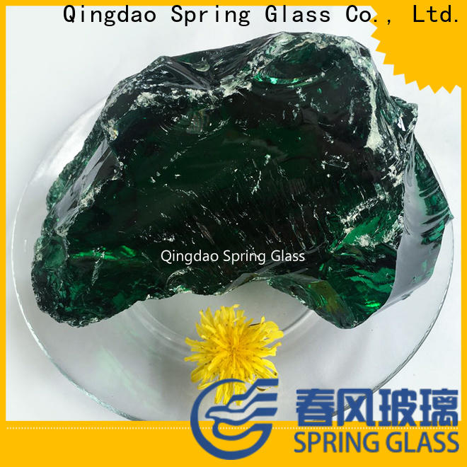 Spring Glass high quality landscaping glass rocks manufacturer for square