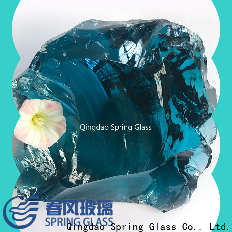 Spring Glass glass rocks factory for decoration