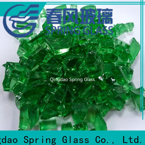 Spring Glass float glass cullet manufacturer for fire place