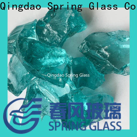 sky blue decorative crushed glass supplier for decoration