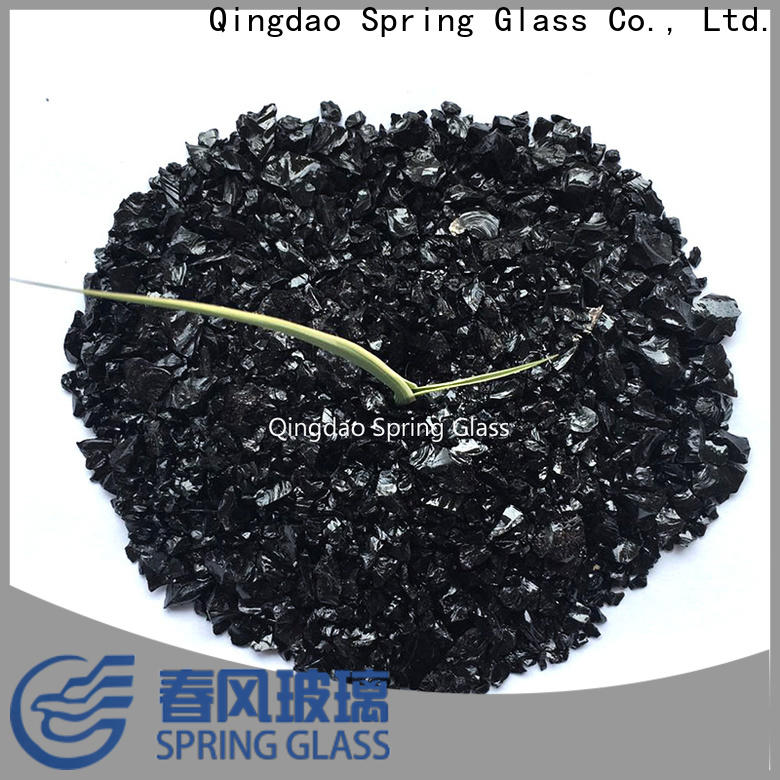 Spring Glass black decorative crushed glass company for sale