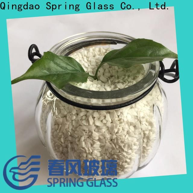 Spring Glass tawny crushed glass supplier for floor