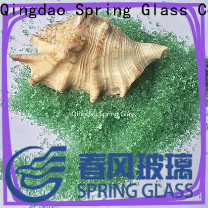 Spring Glass black decorative crushed glass supplier for floor