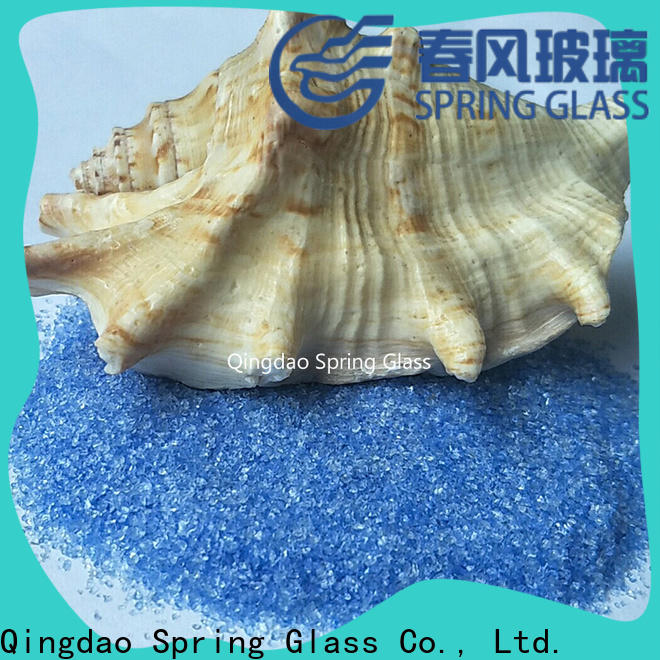 Spring Glass latest decorative crushed glass manufacturer for kitchen