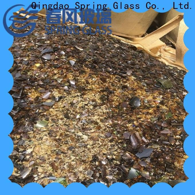 Spring Glass glass cullet chips for fire bottle