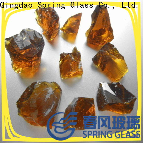 Spring Glass amber glass rocks company for decoration