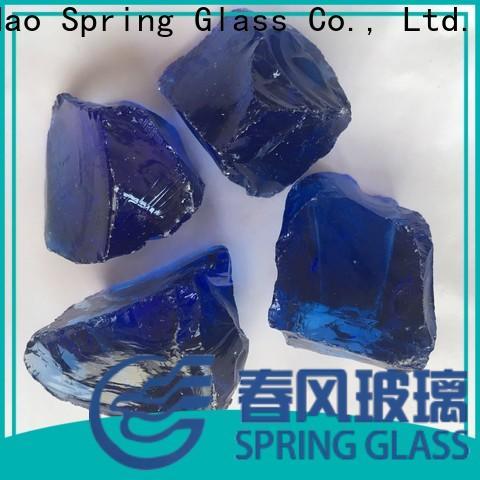 Spring Glass fire glass rocks company for garden