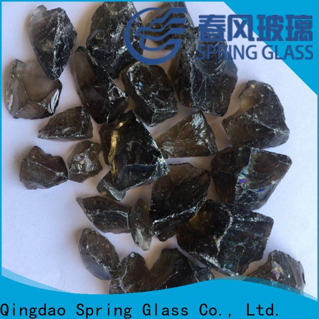 Spring Glass crushed landscaping glass rocks for busniess for decoration