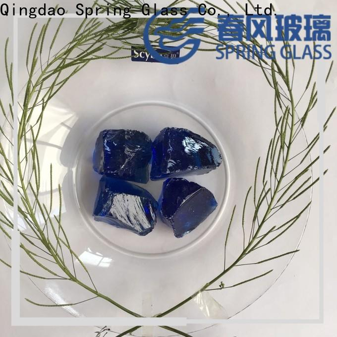 high quality glass rocks manufacturer for square