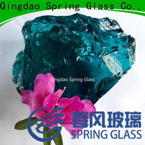Spring Glass super white landscaping glass rocks for busniess for garden